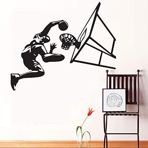 Persönlichkeit Basketball Charakter Wandaufkleber Männlichen Studenten Schlafzimmer Schlafsaal Wanddekoration Abnehmbare Aufkleber 100 Cm * 88 Cm