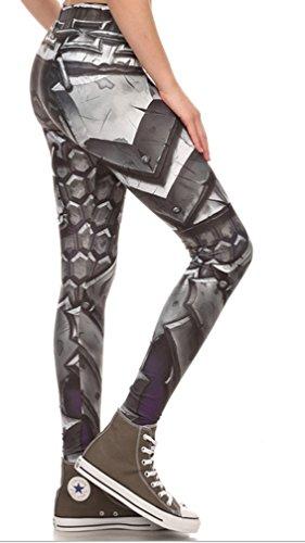 Belsen Donna Deadpool stretch Leggings pantaloni a matita Armor