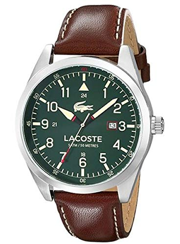 Lacoste Herren-Armbanduhr Analog Quarz Leder 2010781