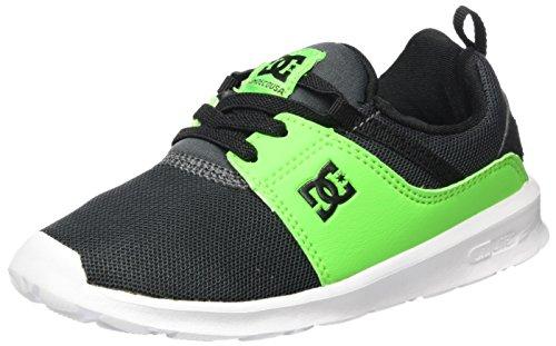 Dc-jungen Skate Schuhe (DC Shoes HEATHROW, Jungen Sneaker, Grün (Green/Grey/White - Combo), 23 EU (6 UK))