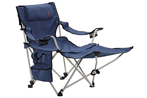 Grand Canyon Giga - siège de camping pliant avec repose-pieds, aluminium, bleu/noir, 308019