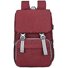 LGPNB Mamá Bolsa de amor Mamá Bolsa Mochila Cargador USB Bolsa de pañales Bolso portátil para