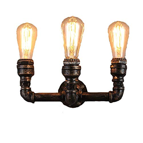 GENGYI Weinlese Industrieller Foft Wandlampe Eisenrohr Licht Rohr Lampe Kreative Flamme Form Design...