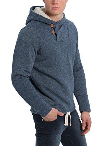 BLEND Theodor Herren Kapuzenpullover Hoodie Sweatshirt mit Teddyfutter aus hochwertiger Baumwollmischung Navy (70230)