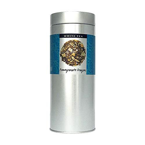 The Exotic Teapot - Pomegranate Dragon Fruit White Tea,125g Tin, Loose Leaf Peony