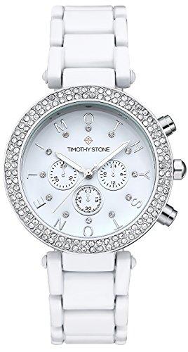 Timothy stone collection desire bicolor - orologio da polso donna, colore bianco
