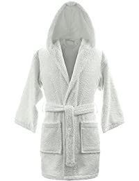 20d33fbca6 Kids Girls Boys Hooded Bathrobes Dressing Gowns - 100% Egyptian Cotton  Luxury and Super Soft