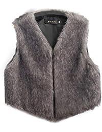 Chaleco sin mangas de las mujeres Chaqueta de abrigo Chaleco de la chaqueta de pelo largo