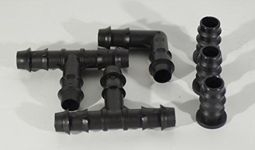 Ferritalia - Kit d'accessoires pour systèmes d'arrosage goutte à goutte à peigne - pour 3 rangées de plantes