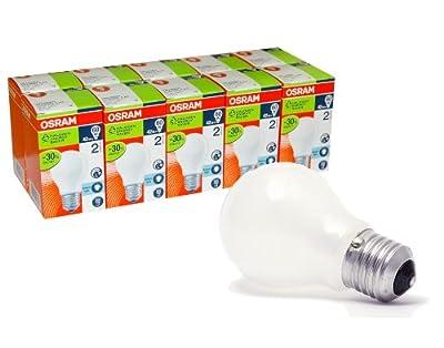 10 x OSRAM Glühbirne 42W / 60W MATT E27 Glühlampe Energiesparlampe Eco Halogen 64543
