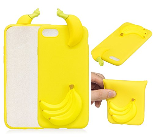 "iPhone 7 / iPhone 8 (4.7"") Hülle, BENKER Hochwertigem Neu Kreativ 3D Karikatur Durable TPU Silikon Kratzfeste Stoßfest Rutschfeste Handyhülle - Flamingo Banane"