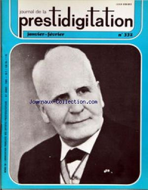 JOURNAL DE LA PRESTIDIGITATION [No 332] du 01/01/1980 - par Collectif