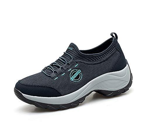 f69013745 lovejin Donna Scarpe Mesh Platform Sneaker Dimagranti Sportive Zeppa Fitness  Scarpe da Ginnastica