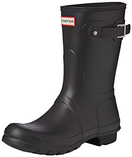 Hunter Original Short, Damen Kurzschaft Gummistiefel,, Schwarz,  39 EU/6UK (Damen Hunter)
