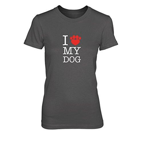 I love my Dog - Damen T-Shirt Grau