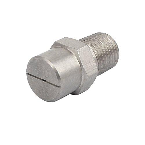 sourcingmap 1/8BSP Orifice 1.1mm Dia vaporisation acier Inox 110 Degré embout plat