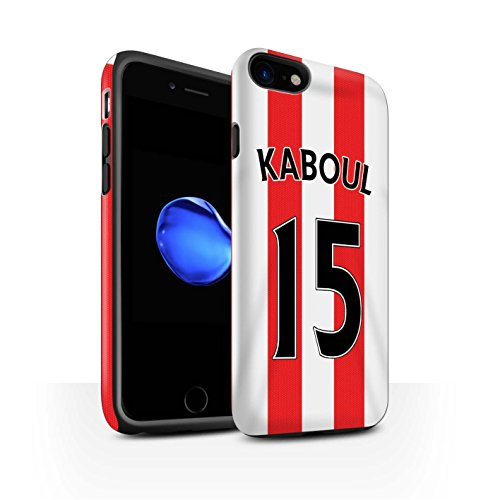 Officiel Sunderland AFC Coque / Matte Robuste Antichoc Etui pour Apple iPhone 7 / Van Aanholt Design / SAFC Maillot Domicile 15/16 Collection Kaboul