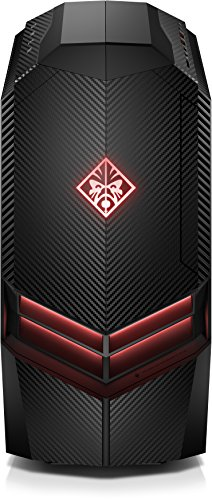 HP Omen 880-053ng Desktop PC (Intel Core i7-7700K, 16 GB RAM, 1 TB HDD, 256 GB SSD, NVIDIA GeForce GTX 1070, Windows 10 Home 64) schwarz
