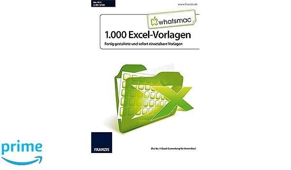 WhatsMac - 1.000 Excel-Vorlagen: Amazon.de: Software