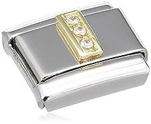 Nomination - 030301 - Maillon pour bracelet composable Mixte - Acier inoxydable et Or jaune 18 cts