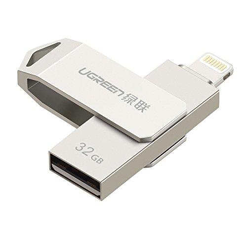 Memoria USB para iPhone y iPad, UGREEN Pendrive 32GB [MFi Certificado por Apple] USB 2.0 y Lightning