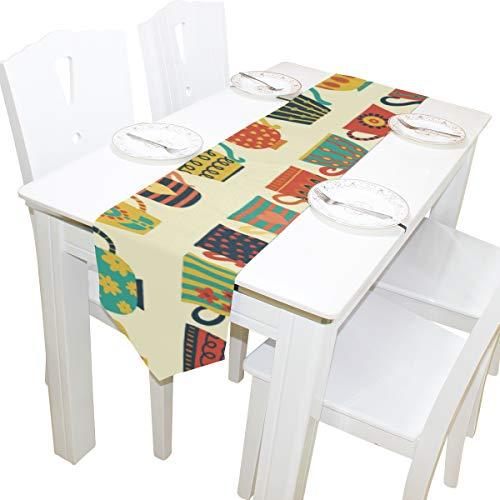 chiedene Modell Kommode Schal Tuch Abdeckung Tischläufer Tischdecke Tischset Küche Esszimmer Wohnzimmer Hause Hochzeitsbankett Decor Indoor 13x90 Zoll ()