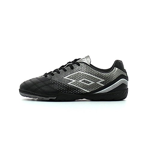 Lotto Spider 700 Xiii Tf Jr, Chaussures de Football Mixte Bébé Noir / gris (noir / gris titan)