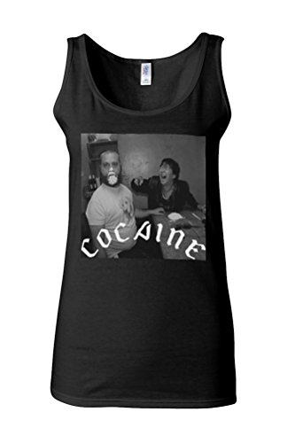 Cocaine Drug High Friends Funny Novelty White Femme Women Tricot de Corps Tank Top Vest *Noir