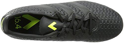 adidas Ace 16.4 Fxg, Chaussures de Football Homme Noir (Core Black/Core Black/Solar Yellow)