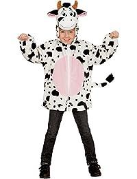 Sweatjacke Kuh Plüsch Kinder Pluesch Jacke mit Kapuze Jumper Hoody Weste Teddy