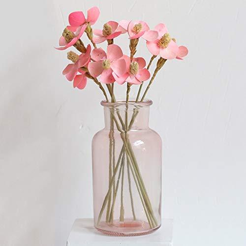 Guanjer fiori secchi bouquet mazzi di fiori rossi per la casa decorativo vaso eterno piccoli fiori freschi ornamenti regalo di compleanno (colore : i)