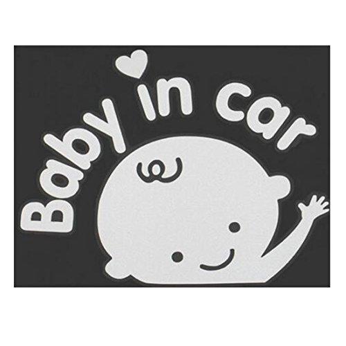 3D-Cartoon-Motiv Auto-Aufkleber, Vinyl, reflektierend, Warn-Aufkleber Baby im Auto, Auto-Aufkleber Baby on Board, für Heckscheibe Männer