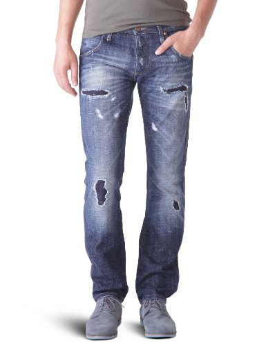 Wrangler - Spencer - Jeans - Droit - Homme Bleu (Oxide)
