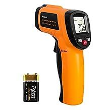 Helect Digitale laserinfrarood thermometer pyrometer (-50 °C tot 550 °C) met LCD-verlichting