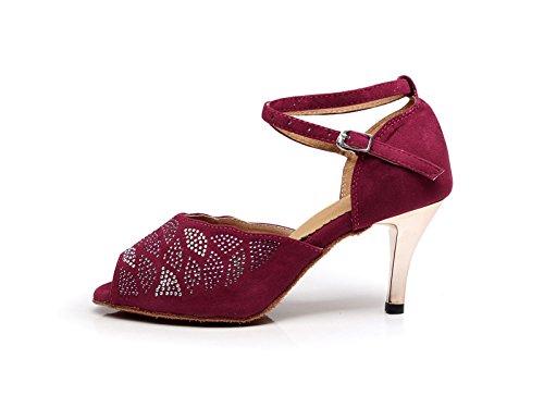 Miyoopark - Ballroom donna Burgundy-7.5cm Heel