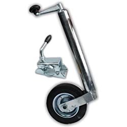 XL Perform Tool 553928 Roue jockey avec fourche diamètre 48mm + bride remorque