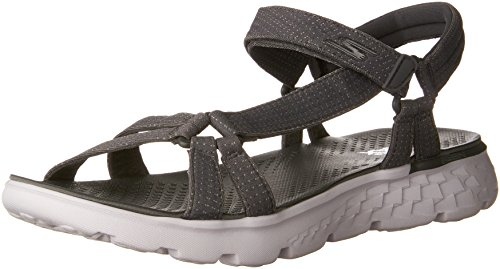 Skechers Damen On-the-Go 400-Radiance Sandalen, Grau (Char), 40 EU