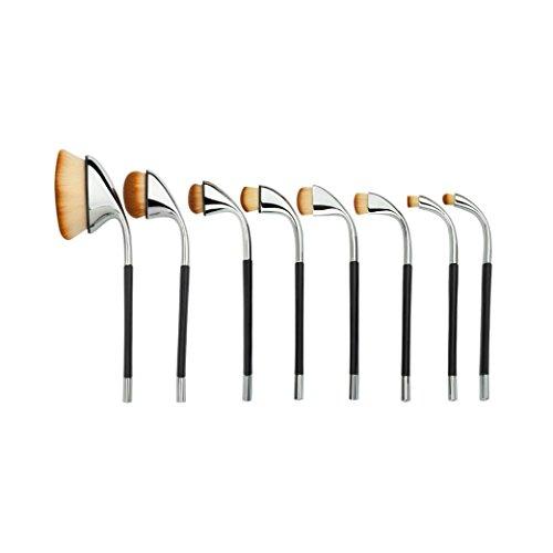 Golf Maquillage pinceau ensemble x 8Pcs----HUI.HUI Pinceaux Sets Maquillage Brosse Make Up Pour Beauté Premium Fondation Mélange Blush Les LèVres Yeux Visage Poudre Cosmétiques (Argent)