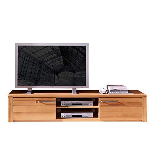 Nature Plus TV-Board teil-massiv aus Kernbuchenholz - hochwertiges Low-Board für Ihr Wohnzimmer - 190 x 36 x 45 cm (B/H/T)