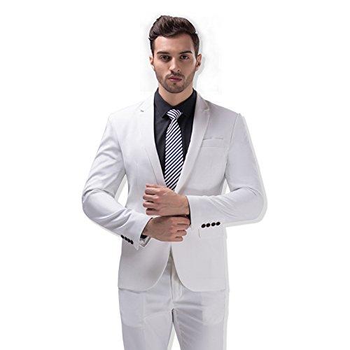 5colori costume uomo due pezzo Slim Fit Per a L' occasione di matrimonio o la sera