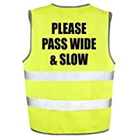 Please Pass Wide & Slow - Kids Hi Viz Safety Vest Horse Riding/Equestrian/Pony/Novelty