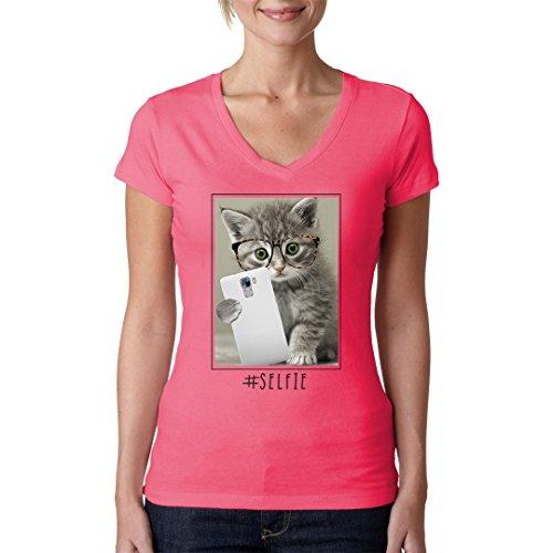 Im-Shirt - Selfie Miez cooles Fun Girlie Shirt - verschiedene Farben Light-Pink