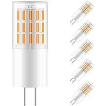 Sunix bombillas LED GU4 de 2W, equivalentes a Lámparas halógenas de 20W, Blanco Cálido 3000k, 270LM, 45 x 4014 SMD LED, AC/DC12V, Pack de 5