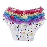 Generic Baby Girl Ruffle Panties Bloomers Diaper Cover S Colorful Polka Dots