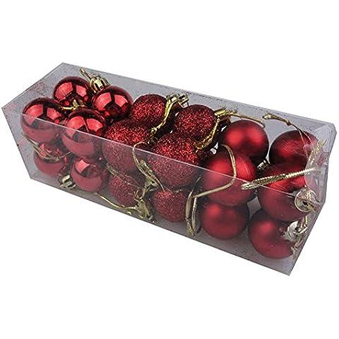 Bolas de Navidad,XMas La Decoración de Navidad Ronda 24 Bolas de Navidad Adorno del Árbol de Las Chucherías