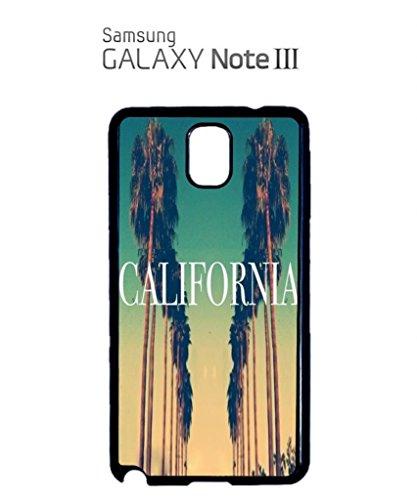 California City Vintage Retro Mobile Cell Phone Case Samsung Note 3 Black Noir