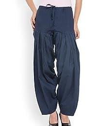 ELK Womens 100% Cotton Patiyala Salwar Bottom Pant Freesize Dark Grey Colour