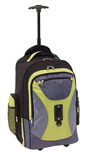 Rucksack Trolley mit gepolstertem Laptopfach verstellbaren Schultergurte Einhand Teleskopsystem Rucksäcke -