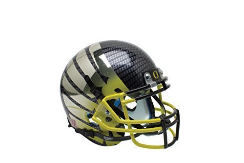 NCAA Oregon Ducks Wing Yellow Fade Authentic Helmet, One Size by Schutt