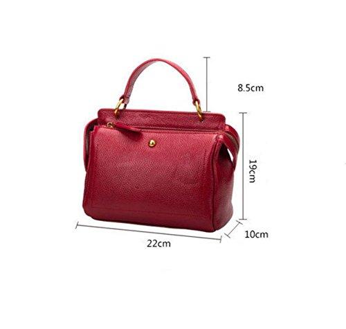 Leder Handtaschen Geldbörse Tasche Umhängetasche Handtasche Freizeit Mode Wild Blue